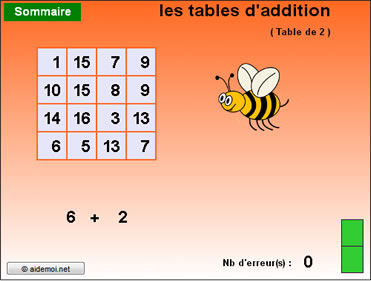 Calcul mental additionne de +2 à +11 (11 niveaux)